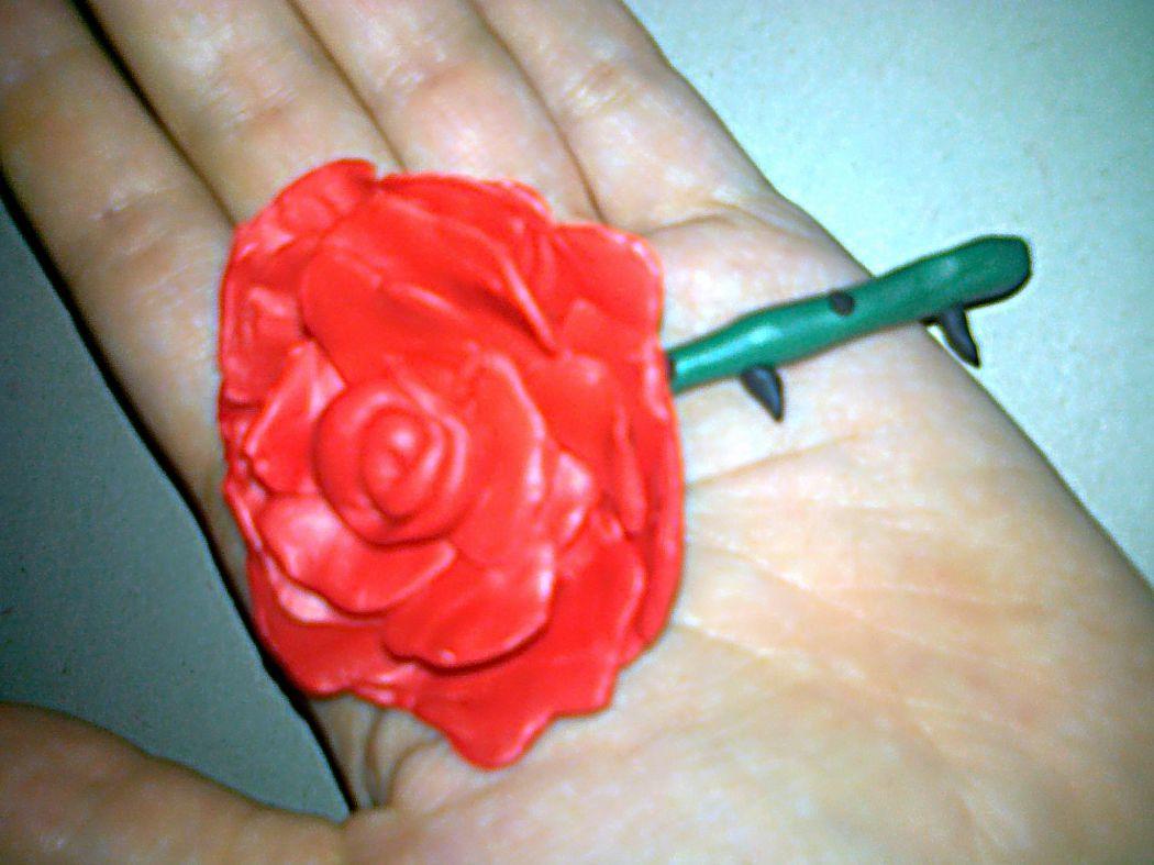 Слепить из пластилина цветок фото