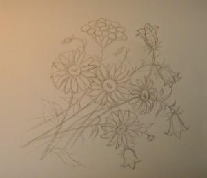 как нарисовать цветы карандашом поэтапно