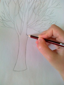 нарисовать красивое дерево