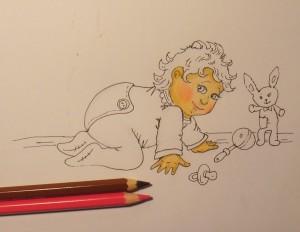 дети карандашом