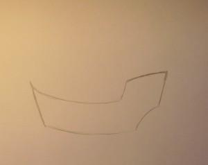 нарисовать кораблик ребенку