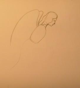 как нарисовать ангела карандашом