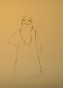 как нарисовать Деда Мороза карандашом поэтапно