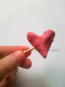 сердечки из пластилина
