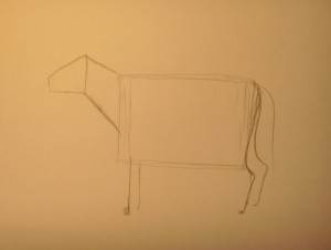 нарисовать корову карандашом
