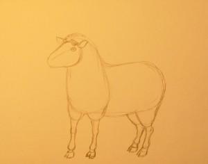рисунок овечки