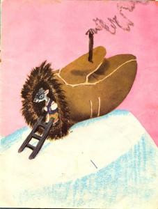 Раскраска рукавичка-домик