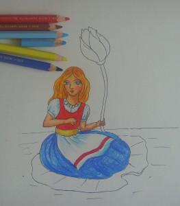 рисунок дюймовочки