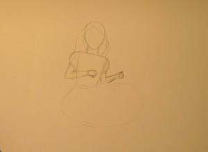 как нарисовать дюймовочку поэтапно карандашом