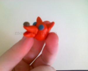 лепим лисичку из пластилина
