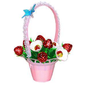 букеты из конфет для девочки