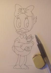 как нарисовать поночку карандашом