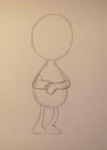как нарисовать поночку карандашом поэтапно
