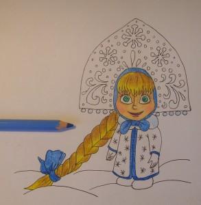 как нарисовать Машу карандашом поэтапно