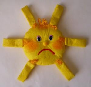 поделка солнышко