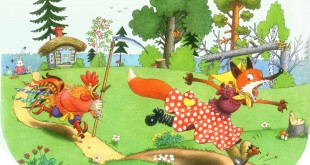 сказка лиса, заяц и петух