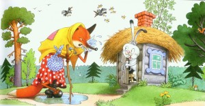 сказка лиса и заяц