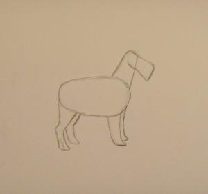 как нарисовать собаку красиво