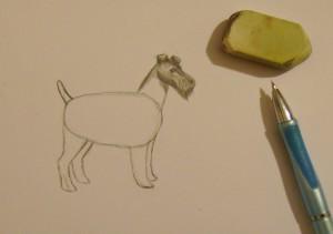 как рисовать собаку