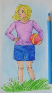 рисунок девушки