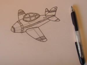 как нарисовать самолет детям