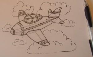 Рисунок самолета