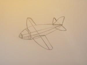 рисование самолета