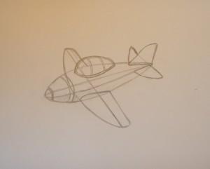 как нарисовать поэтапно самолет