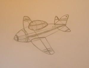 как нарисовать самолет карандашом