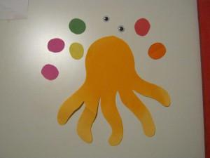 поделка осьминог