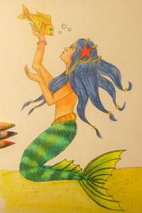 рисунок русалки