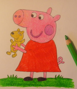 как нарисовать свинку пеппу поэтапно