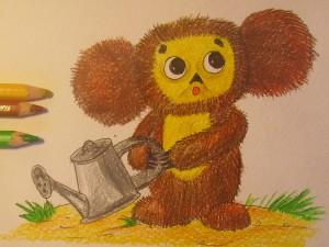 нарисовать чебурашку карандашом