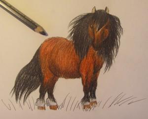 как нарисовать пони карандашом