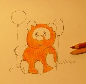 как нарисовать винни-пуха карандашом