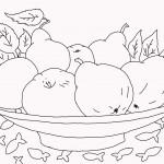 3тарелка с фруктами
