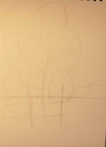 как нарисовать осенний пейзаж карандашом