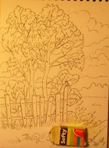 как нарисовать осенний пейзаж поэтапно