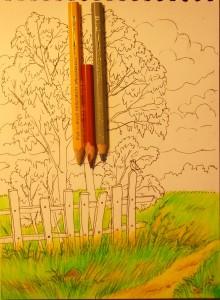 как нарисовать осенний пейзаж карандашом поэтапно