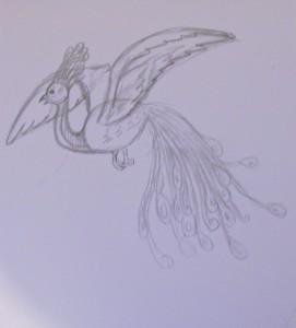 как нарисовать жар птицу карандашом поэтапно