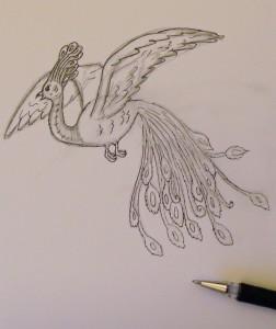 нарисовать жар птицу ребёнку