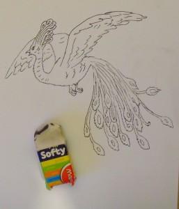 как нарисовать жар птицу карандашом