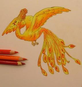 рисунок жар птицы