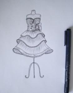 Как рисовать платья дизайнерам
