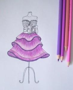 Красивые картинки платьев карандашом
