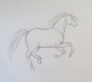 как нарисовать коня поэтапно