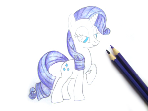 нарисовать май литл пони рарити