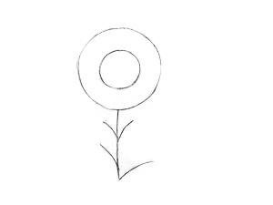 как нарисовать подсолнух поэтапно