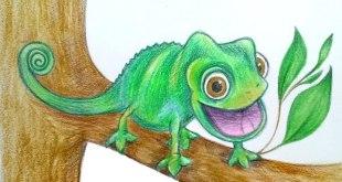 как нарисовать хамелеона