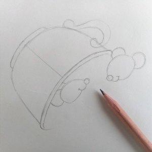 как нарисовать мышку карандашом